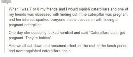 preg caterpillas
