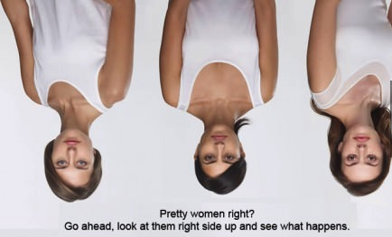 upside down women