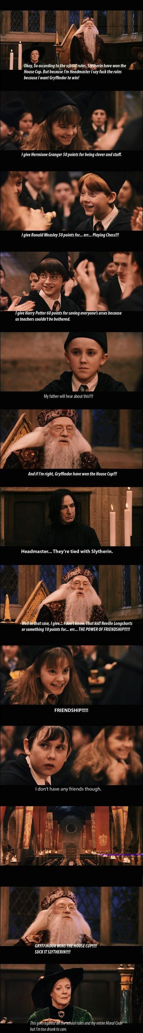 dumbledore house win