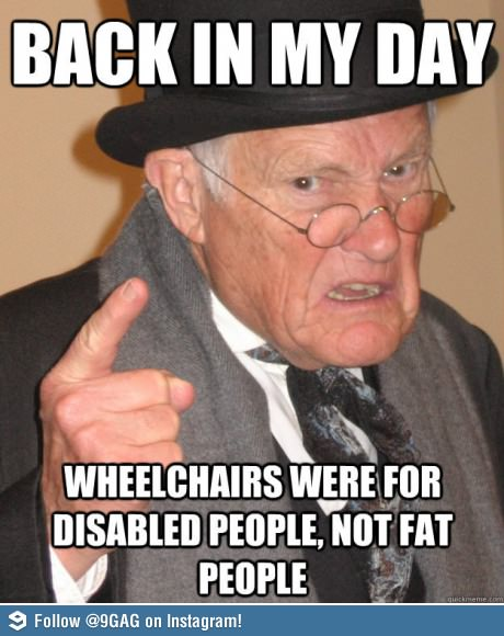 wheelchair fat