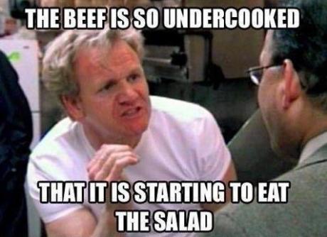 eat salad beef