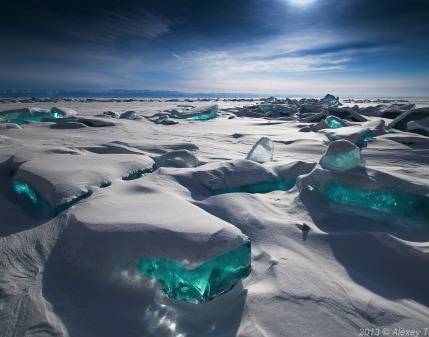 frozen lake cubes