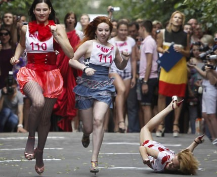 russia heels race