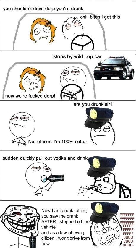 drunk after