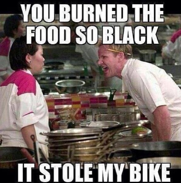 black stole bike