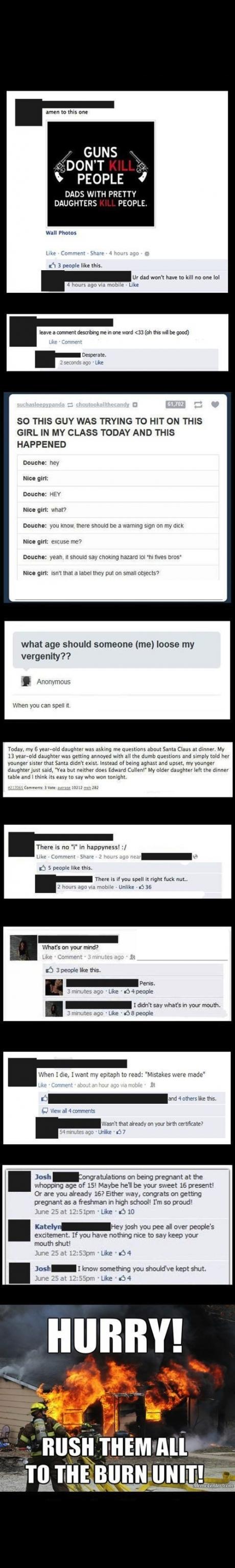 burn fb comments