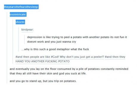 depression potatoes