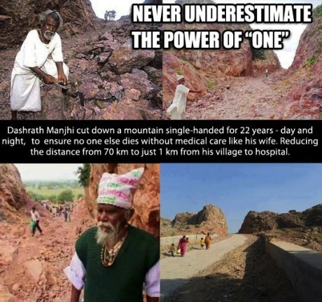 mountain cut