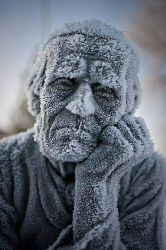 frozen statue