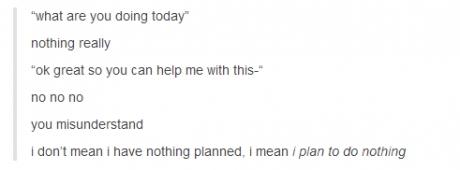 plan nothing