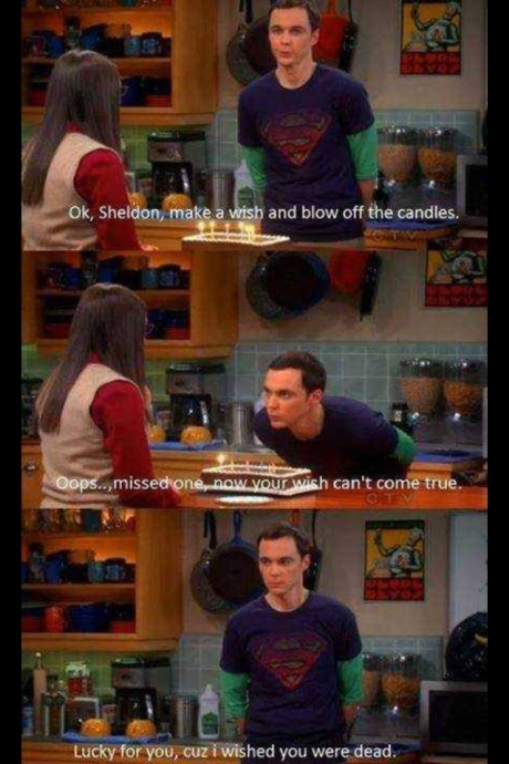 sheldon wish