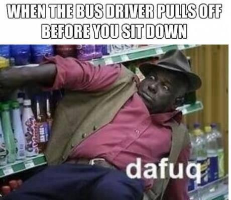bus drive befpre sit