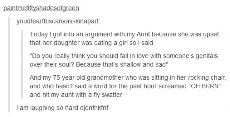 grandma burn lesbian