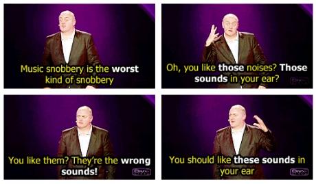 music snobbery
