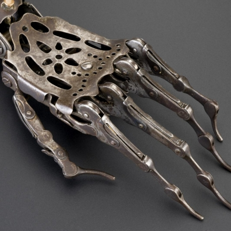 old prosthetic hand