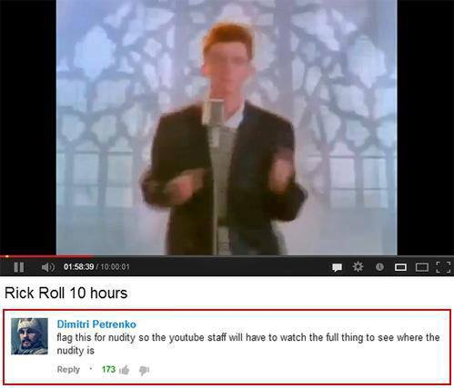 rick roll 10 hours