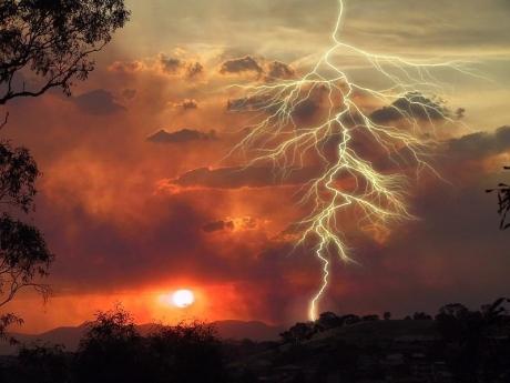 sunset lightening
