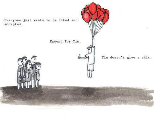 tim doesn't care